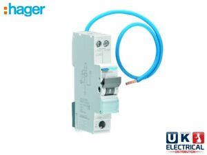 Hager Compact ADA RCBO 6a 10a 16a 20a 25a 32a 40a 45a Amp 6kA Type B Mini RCBO