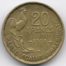 France : 20 Francs 1951 - 4 Plumes