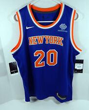 Juventud Nueva York Knicks Kevin Knox #20 Azul Icono Jersey Nike Swingman XL Nuevo con etiquetas Ss L