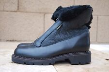 Blondo Womens 7 Boots Black Leather Zip Front Shearling Waterproof BootieCanada