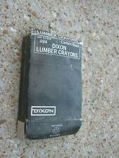 12 pcs Vintage Dixon Lumber Crayons Carbon Black No. 494