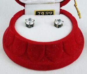 Swarovski Cubic Zirconia Stud Earrings in Red Bell Christmas Ornament MSRP $80