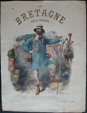 La Bretagne amoureux du pittoresque par A. Darjou Lithographie 19ème 1859