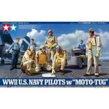 Tamiya 61107 pilotos de la Segunda Guerra Mundial Us Navy Con Moto Tug 1/48 escala kit plástico modelo