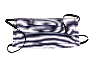 Cotton Stripy Double Layer Face Mask FACE COVERING PURPLE & WHITE REUSABLE MASK