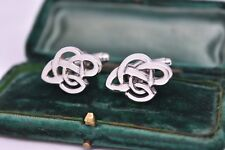 Vintage Sterling silver cufflinks with an Art deco design #B863
