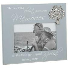 Memories Grey Photo Frame With Sentiment and Raised Tree Gift 271446