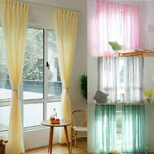 Modern Floral Net Tulle Window Curtain Home Voile Slot Door Divider Drape Decor