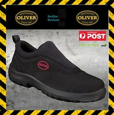 NEW!! Oliver Work Boots 34610 Steel Toe Cap Black Slip On Safety Shoe