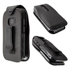 caseroxx Leather-Case with belt clip for Doro 6040 in black made of genuine leat