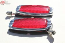 41-48 Chevy Flush Flat Body Mount LED Tail Lamp Lights Custom Truck Hot Rat Rod