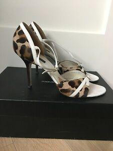 Dolce Gabbana Pony Hair Women's Shoes  Sandals Sz 40