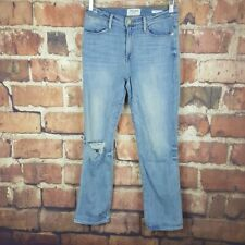 Frame Le High Straight Jeans Womens Size 27 Distressed High Waist 29 Inseam