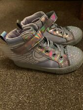 Skechers Size 9 Girls Boots With Wings And Flashing Toes