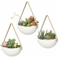 Mkono Ceramic Hanging Planter Wall Planters Set of 3 Modern Flower Plant Pots fo