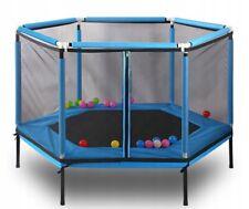 Tappeto elastico per bambini 2in1 GRANDE PISCINA NEONATI rete di sicurezza a molla coperchio con cerniere porte