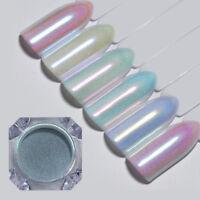 Holographic Nail Powder Glitter Chameleon  Mirror Nail Art Chrome Pigment