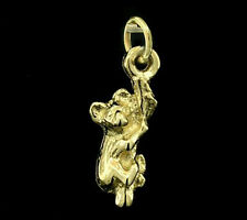 C112 Cute Solid 9K Yellow Gold Detailed Baby Koala on Branch Charm 3D + jumpring