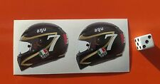 X2 Barry Sheene Casco Agv Pegatina Calcomanía Pegatinas Motocicleta 50mm