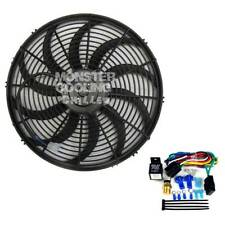 "Jeep Wrangler YJ Chevy V8 Electric Radiator Fan 16"" High Output 220W & Relay Kit"