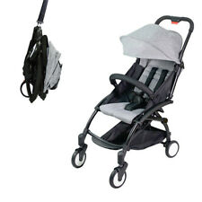 Grey Portable Baby Stroller Kids Pram Carry on Plane Travel Foldable Lightweight
