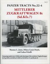 Gepanzerter 8t Zugkraftwagen /& SfL Flak Sd.KfZ 7 Pläne Panzer Tracts 22-5