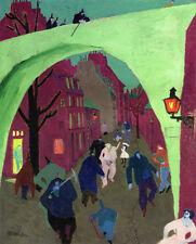 The Green Bridge  by Lyonel Feininger   Giclee Canvas Print Repro