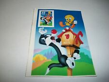 SYLVESTER & TWEETY SPECIAL DIE CUT & IMPERF STAMP MNH VF 32 CENT SINGLE # 3205