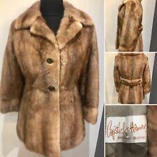 Vintage Blonde Mink Fur Jacket Coat 1930's 1940's Size S