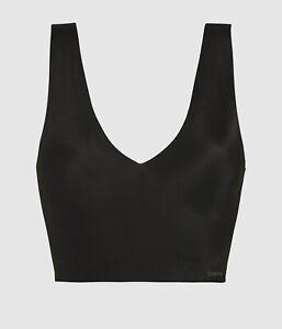 Calvin Klein Women's Invisibles Lightly Lined V Neck Bralette, Bare, Size Medium