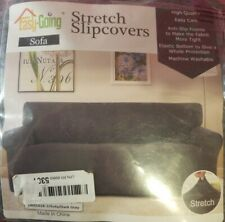 EASY-GOING STRETCH SLIPCOVER SOFA COUCH ANTI-SLIP FOAM DARK GRAY WASHABLE PET