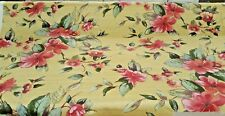 """ITC vintage Etude yellow floral drapery/upholstery fabric 57"""" width NEW"""