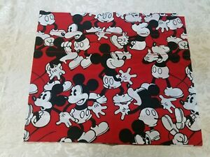 """Disney Mickey Mouse Red & Black Curtain One Window 17 x 79.5"""" Mickey Mouse Decor"""