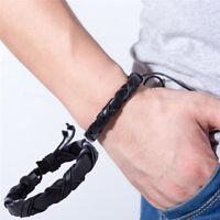 Handmade Leather Men Women Rope Bracelet Bangle Cuff  Wristband Wrap ßß