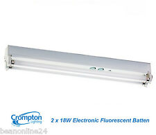 Crompton 2 x 18W T8 Fluorescent Batten with Electronic Ballast - Energy Saving