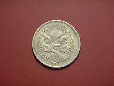 Australia 5 Cents, 1976, Anteater
