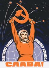 "Russian Propaganda Poster ""LONG LIVE SOVIET PEOPLE"" Soviet Communist Print"