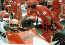 Bruno Giacomelli Hand Signed Marlboro Team Alfa Romeo Photo 12x8 3.