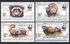 Kazakhstan 1997 WWF/Polecat/Animals/Nature/Wildlife/Conservation 4v set (n39667)