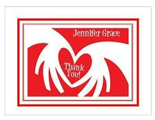Red Heart Personalized Thank You or Note Cards ~ Style #2