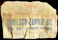 Erie PA - Hamilton Lumber nail apron, circa 1950