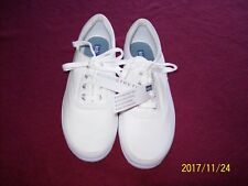 Ked white canvas shoes, ladies size 8 M, micro-stretch in excellent condition