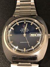 RARE!1970s Vintage Omega Seamaster Chronometer Electronic F300Hz Blue Face Watch