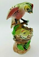 Vintage Ceramic Redprol Feed Baby Bird Nest  Figurine Hand Painted Japan NOS
