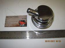 Mopar Stlye Chrome Steel Oil Breather Cap Valve Cover PUSH IN w/ Tube