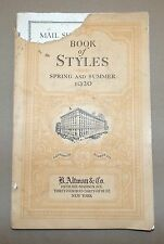 B. ALTMAN & CO BOOK OF STYLES SPRING AND SUMMER 1920 CATALOGUE NUMBER 122