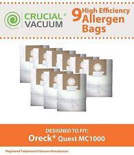9 Replacements Oreck Quest MC1000 Vacuum Bags Part # PK12MC1000