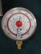 """(1) Or More. 500 psi Gauge. 3"""" Face Red Metal R404A, R134A, R407C, bar 34, NOS"""