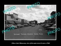 OLD LARGE HISTORIC PHOTO OF ELBOW LAKE MINNESOTA, THE MAIN STREET & STORES c1960