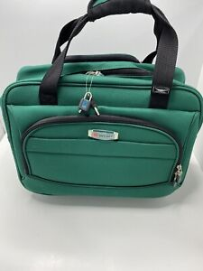 """DELSEY Light Weight 17"""" Trolley Tote Carry On Green 2 Wheels Telescopic Used"""